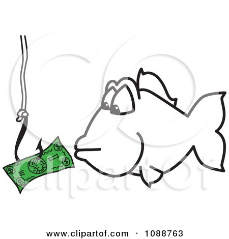 ClipartSquiggle Hook Fishing For Money - Royalty Free Vector Illustration by Toons4Biz