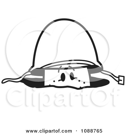 Clipart Squiggle Guy Soldier In A Fox Hole - Royalty Free Vector Illustration by Toons4Biz