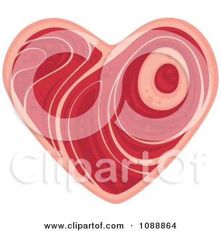 Clipart Steak Heart - Royalty Free Vector Illustration by John Schwegel
