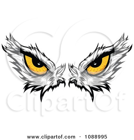 Clipart Yellow Bald Eagle Eyes - Royalty Free Vector Illustration by Chromaco