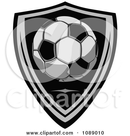 Clipart Soccer Ball Shield Badge - Royalty Free Vector Illustration by Chromaco
