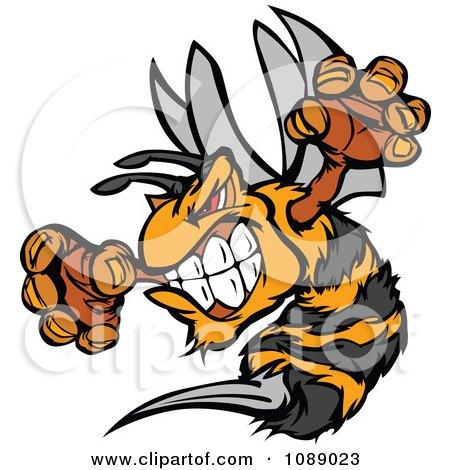 Stinging Bee Mascot Posters, Art Prints