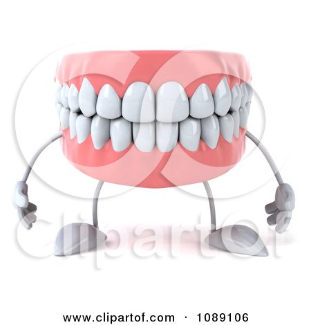 Clipart 3d Dentures Character - Royalty Free CGI Illustration by Julos