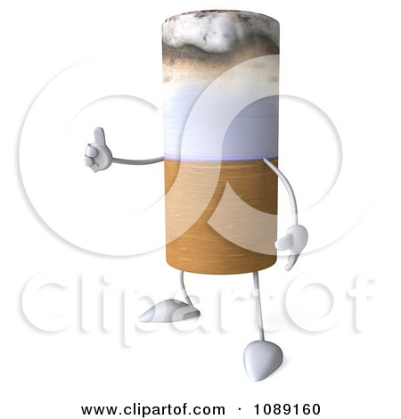 3d Tobacco Cigarette Character Holding A Thumb Up Posters, Art Prints