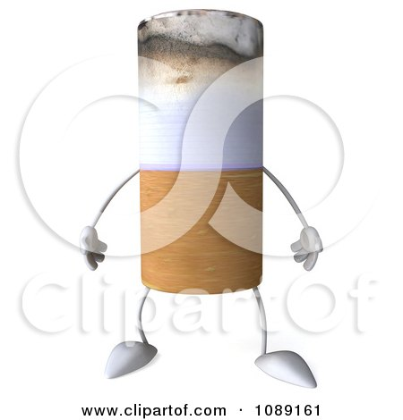 Clipart 3d Tobacco Cigarette Character - Royalty Free CGI Illustration by Julos
