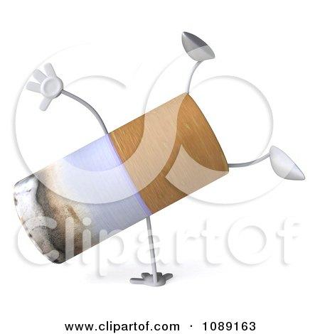 3d Cartwheeling Tobacco Cigarette Character Posters, Art Prints
