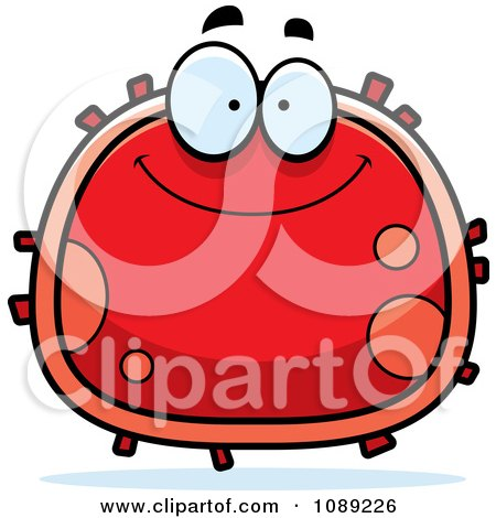 Clipart Smiling Red Blood Cell- Royalty Free Vector Illustration by Cory Thoman