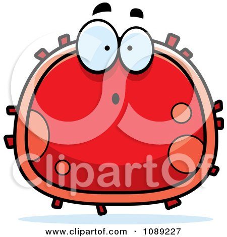 Clipart Surprised Red Blood Cell- Royalty Free Vector Illustration by Cory Thoman