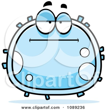 Clipart Bored White Blood Cell - Royalty Free Vector Illustration by Cory Thoman