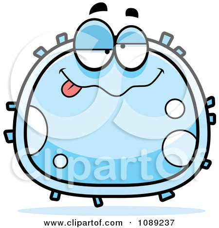 Clipart Drunk White Blood Cell - Royalty Free Vector Illustration by Cory Thoman