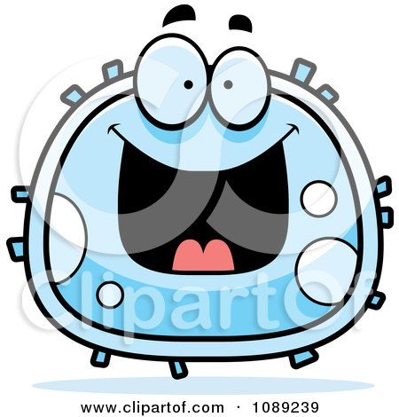 Clipart Grinning White Blood Cell - Royalty Free Vector Illustration by Cory Thoman