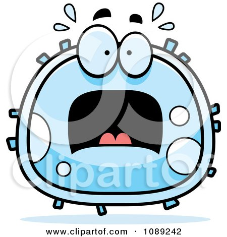 Clipart Scared White Blood Cell - Royalty Free Vector Illustration by Cory Thoman