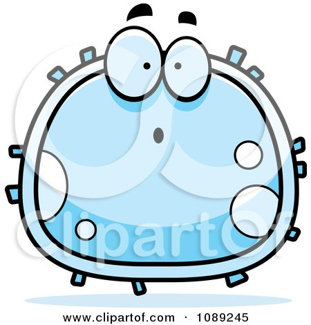 Clipart Surprised White Blood Cell - Royalty Free Vector Illustration by Cory Thoman