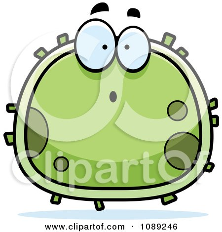 Clipart Chubby Surprised Germ - Royalty Free Vector Illustration by Cory Thoman