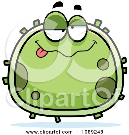 Clipart Chubby Drunk Germ - Royalty Free Vector Illustration by Cory Thoman