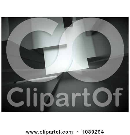 Clipart 3d Gray Abstract Architectural Background - Royalty Free CGI Illustration by chrisroll