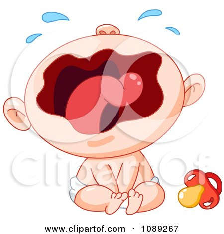 Clipart Wailing Baby Royalty Free Vector Illustration