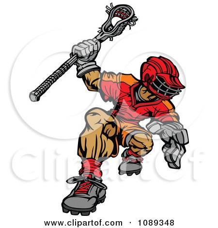 Clipart Strong Lacrosse Player - Royalty Free Vector Illustration by Chromaco