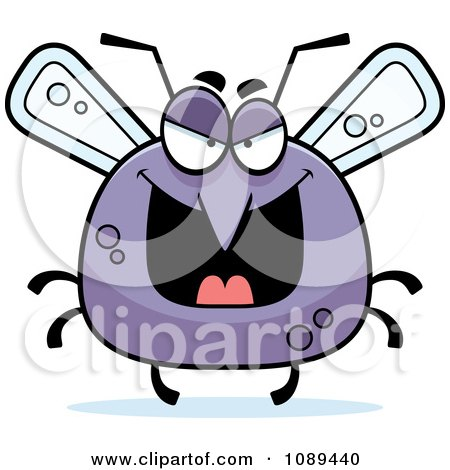 Clipart Chubby Evil Mosquito - Royalty Free Vector Illustration by Cory Thoman