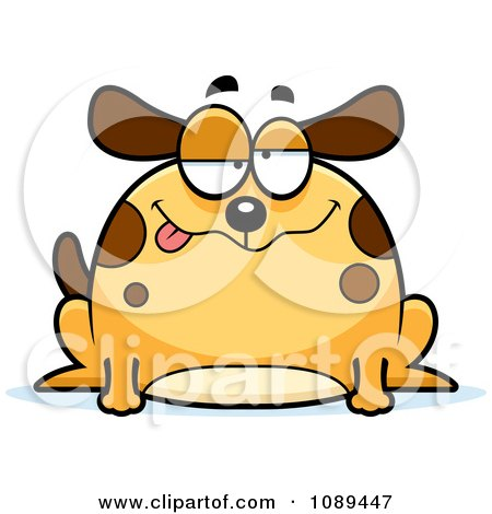 Clipart Chubby Drunk Dog - Royalty Free Vector Illustration by Cory Thoman