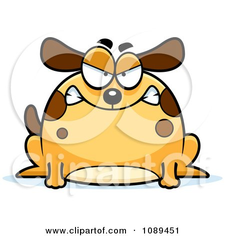 Clipart Chubby Mad Dog - Royalty Free Vector Illustration by Cory Thoman