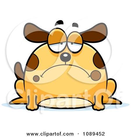 Clipart Chubby Sad Dog - Royalty Free Vector Illustration by Cory Thoman