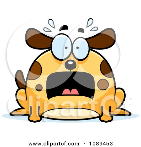 Clipart Chubby Scared Dog - Royalty Free Vector Illustration by Cory Thoman