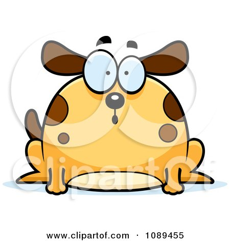 Clipart Chubby Surprised Dog - Royalty Free Vector Illustration by Cory Thoman
