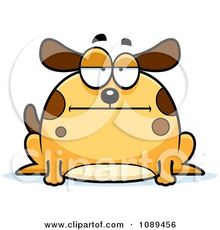 Clipart Chubby Bored Dog - Royalty Free Vector Illustration by Cory Thoman