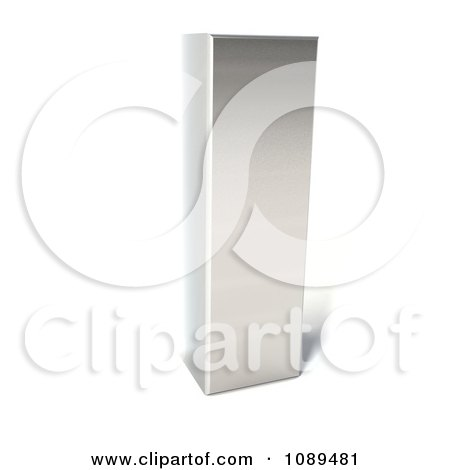 Clipart Capital Stainless Steel Letter I - Royalty Free CGI Illustration by Julos