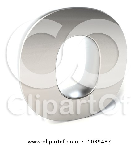 Clipart Capital Stainless Steel Letter O - Royalty Free CGI Illustration by Julos