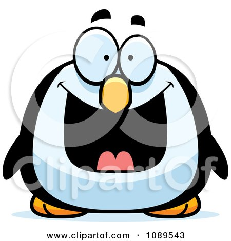 Chubby Grinning Penguin Posters, Art Prints
