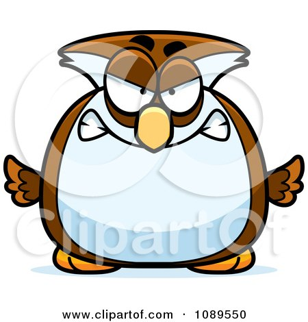 Clipart Chubby Mad Owl - Royalty Free Vector Illustration by Cory Thoman