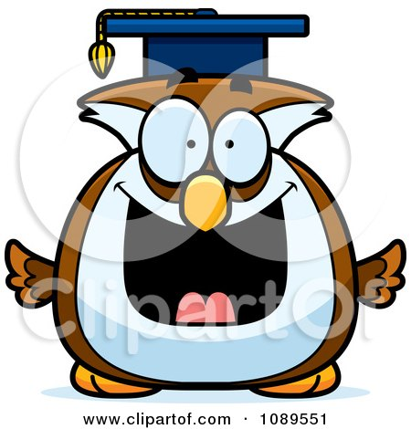Clipart Chubby Professor Owl - Royalty Free Vector Illustration by Cory Thoman