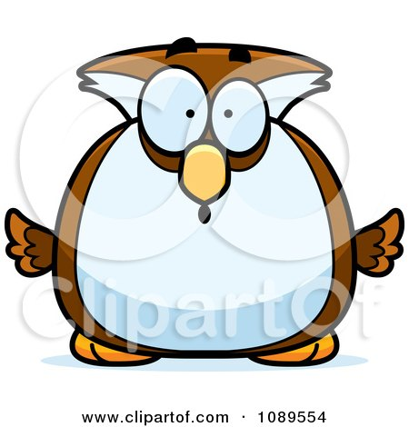 Clipart Chubby Surprised Owl - Royalty Free Vector Illustration by Cory Thoman