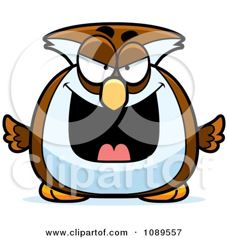 Clipart Chubby Evil Owl - Royalty Free Vector Illustration by Cory Thoman