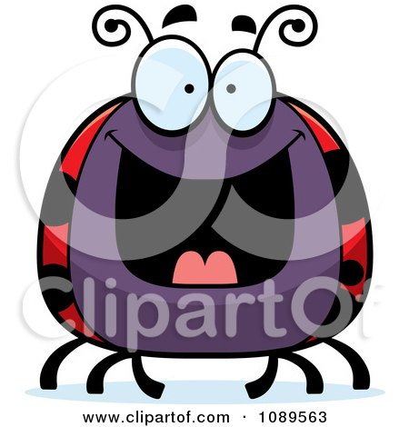 Clipart Chubby Grinning Ladybug - Royalty Free Vector Illustration by Cory Thoman