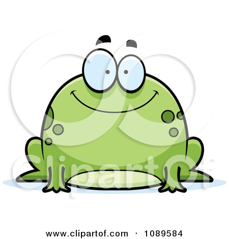 Chubby Happy Frog Posters, Art Prints