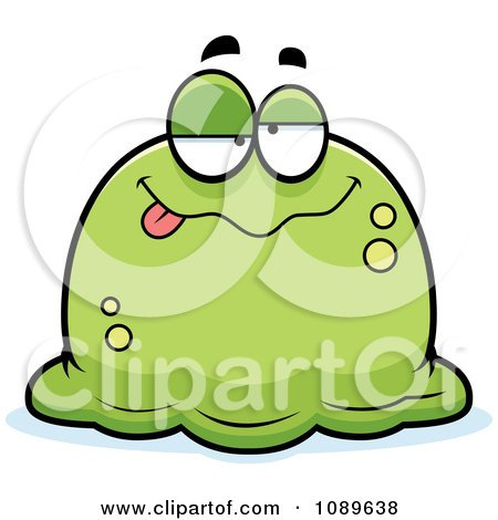 Clipart Pudgy Drunk Green Blob - Royalty Free Vector Illustration by Cory Thoman