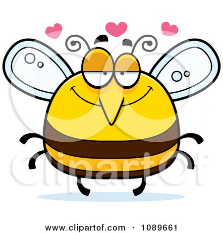 Clipart Pudgy Infatuated Bee - Royalty Free Vector Illustration by Cory Thoman
