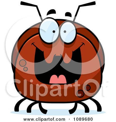 Clipart Pudgy Grinning Ant - Royalty Free Vector Illustration by Cory Thoman