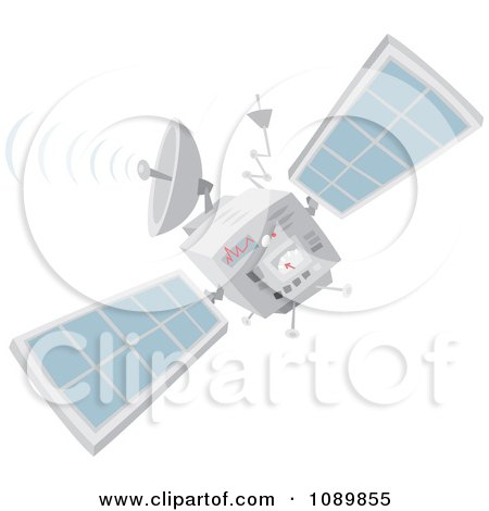 Clipart Communications Satellite - Royalty Free Vector Illustration by Alex Bannykh