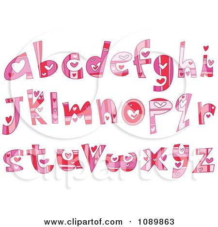 Clipart Colorful...A Alphabet Design In Heart