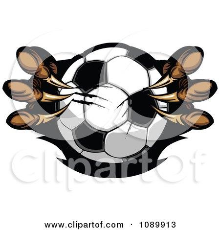 Clipart Eagle Talons Shredding A Soccer Ball - Royalty Free Vector Illustration by Chromaco