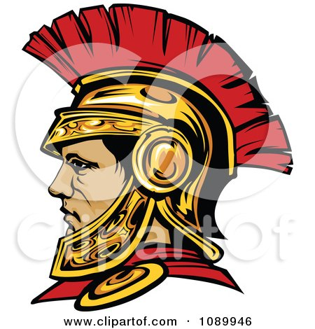 Clipart Roman Centurion Warrior With A Spartan Helmet - Royalty Free Vector Illustration by Chromaco