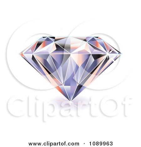 Clipart 3d Sparkly Diamond - Royalty Free Vector Illustration by michaeltravers