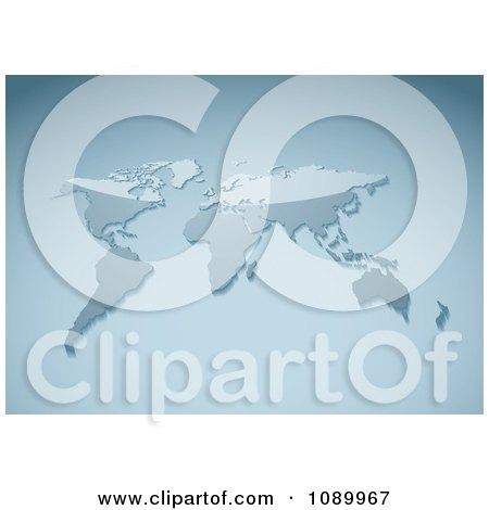 Clipart 3d Shiny World Atlas Map - Royalty Free Vector Illustration by michaeltravers