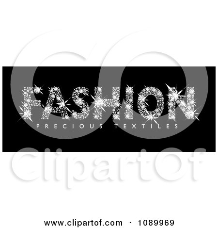 Clipart Fashion Spelled With Diamonds - Royalty Free Vector Illustration by michaeltravers