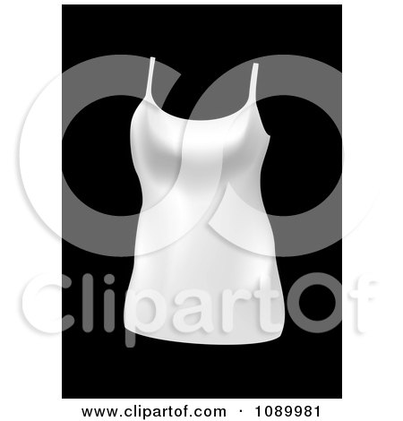 Clipart White Womans Tank Top - Royalty Free Vector Illustration by michaeltravers