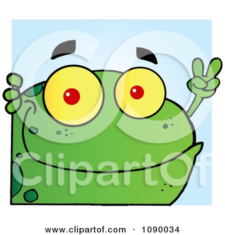 royalty free rf peace frog clipart illustrations vector graphics 1 rh clipartof com Leaping Frog Clip Art Frog Prince